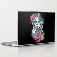 aaliyah Laptop & iPad Skins featuring Aaliyah - Day of the Dead by DejaLiyah