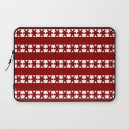 Christmas Snow Flakes Warm Red Laptop Sleeve