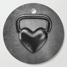 Kettlebell heart / 3D render of heavy heart shaped kettlebell Cutting Board