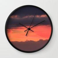 bands Wall Clocks featuring Sunrise bands by IowaShots