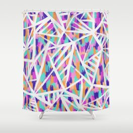 Justine Abstract Shower Curtain