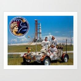 Apollo 17 - Prime Crew Portrait Art Print