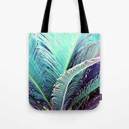 Palms (Teal and purple) Tote Bag