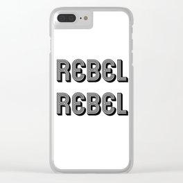 Rebel Rebel Art Print Clear iPhone Case