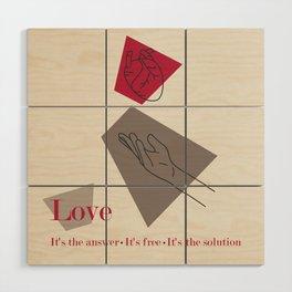 Love: Classic Wood Wall Art