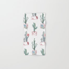 Rose Gold Potted Cactus with Succulents Hand & Bath Towel