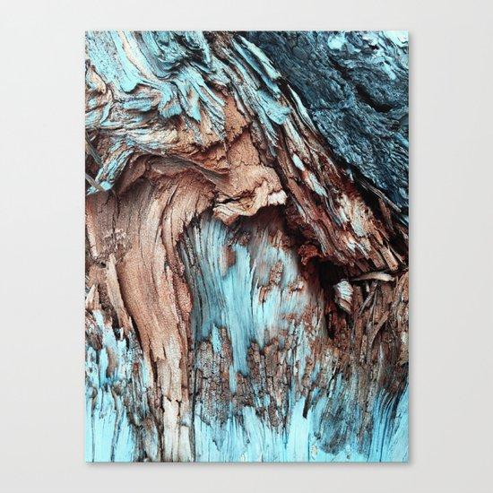 Mint Blue Wood Texture Canvas Print