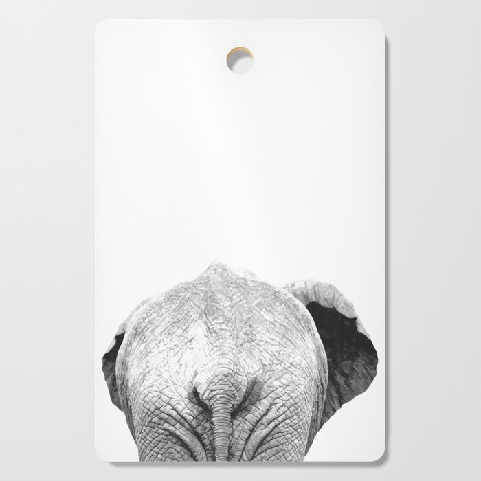 Black and white elephant animal jungle Cutting Board