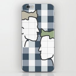 Life in gingham iPhone Skin