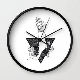 Whale Wreck Wall Clock