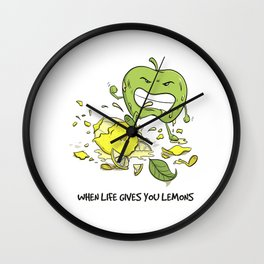 When Life Gives You Lemons by dana alfonso Wall Clock