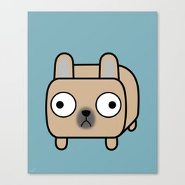French Bulldog Loaf - Fawn Frenchie Canvas Print