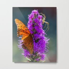 Butterfly and the Lynx Metal Print