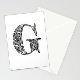 Mandala Art Letter G Stationery Cards