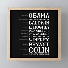 Black History Month BLM Obama Gift Framed Mini Art Print