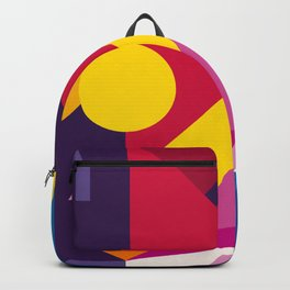 Abstract modern geometric background. Composition 6 Backpack
