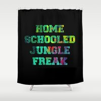 mean girls Shower Curtains featuring Mean Girls #12 – Jungle Freak by Enyalie