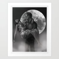 The Creature and His Bride Art Print