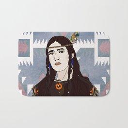 Native American - woman Bath Mat
