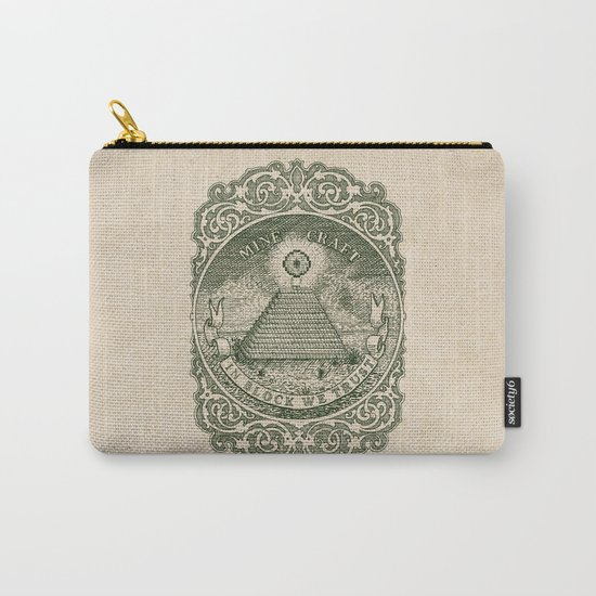 In Block We Trust (Green) Carry-All Pouch