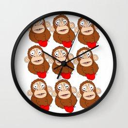 AWholeLottaPunchDrunkMonkeys Wall Clock