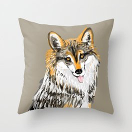 Mexican Wolf #1 Throw Pillow