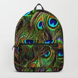 Peacock Feathers Invasion - Wave Backpack