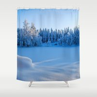 swedish Shower Curtains featuring Swedish Winter by Mark W