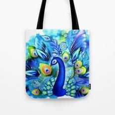 Peacock in Full Bloom Tote Bag