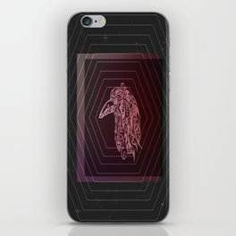 Tribal Raven: Red iPhone Skin