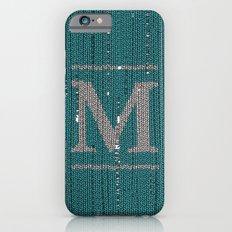 Winter clothes. Letter M. iPhone 6s Slim Case