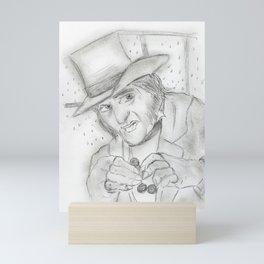 Scrooge in Black and White Mini Art Print