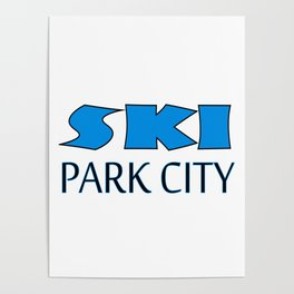 Park City Utah Apparel Poster