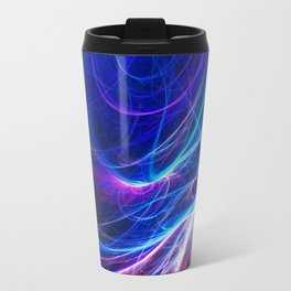 Pink and blue fractal Travel Mug