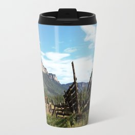 Time Weary Corral at the Haviland Lake Turnoff Travel Mug
