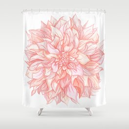 Dreamy Dahlia Shower Curtain