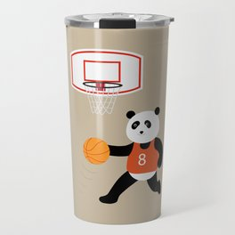 Play basketball with a panda Travel Mug