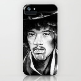 Jimmy in Black and White iPhone Case
