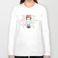frida Long Sleeve T-shirts featuring frida by Vickn