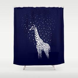 Hollow-Albino Giraffe Shower Curtain