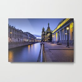 Saint Petersburg at Night Metal Print