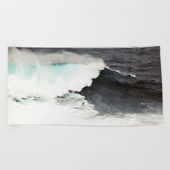 Surf wave sea 6 Beach Towel