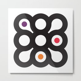 Circles 3x3 #1 Metal Print