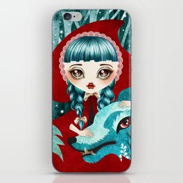 Red of the Woods iPhone Skin