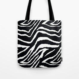 ZEBRA ANIMAL PRINT BLACK AND WHITE PATTERN Tote Bag