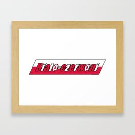 Poland Biało-czerwoni (The White and Reds) ~Group H~ Framed Art Print