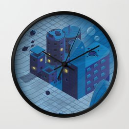 Sunken town Wall Clock