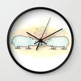 Hippo Love Wall Clock