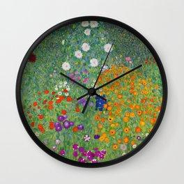 Gustav Klimt Flower Garden Floral Art Nouveau Wall Clock