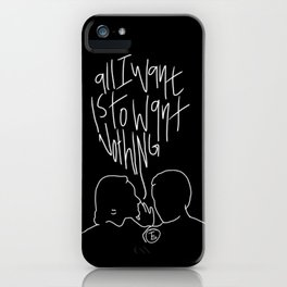 The Front Bottoms Lyric Art iPhone Case
